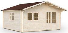 68 mm Gartenhaus Wien 3 - Alaska + Fußboden 4,7x4,7 m Holzhaus Blockhaus Holz