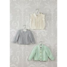 Knitting Pattern James C Brett JB446 Baby DK Cardigan /& Vest