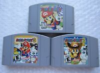 Official Nintendo 64 N64 OEM Authentic Mario Party 1 2 3 Carts Pick GREAT SHAPE!