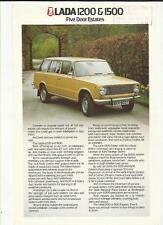 LADA 1200 AND 1500 FIVE DOOR ESTATES  'SALES BROCHURE'/SHEET 1979 1980