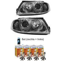 Scheinwerfer Set VW Passat B5 3BG Bj. 00-05 inkl. 4x H7 PHILIPS VISION +30% A9P