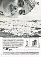 PUBLICITE ADVERTISING 114  1966  CULLIGAN  adoucisseur d'eau