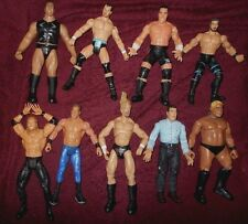 Huge WWF WWE WCW Wrestling Figure Lot with Weapon Sets Championships & More