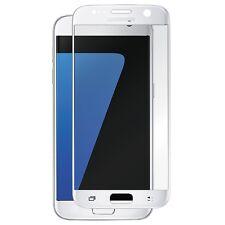 3D Curved Glasfolie für Samsung Galaxy S7 Panzerglas FULL SCREEN Glas Folie Weis