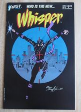 First Comics Whisper #4 , Good Condition