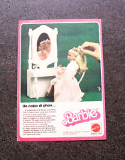 I370-Advertising Pubblicità-1987- MATTEL , BARBIE , UN COPLO DI PHON