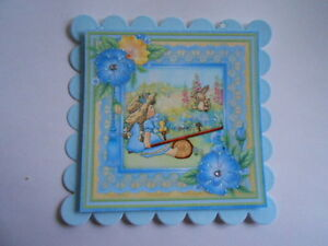 PACK 2 SEESAW FUN IN THE GARDEN TOPPERS  FOR CARDS & CRAFTS