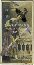 Pretty Pink Witch Arlette Dorgere Vintage Halloween Photograph RePrint #812