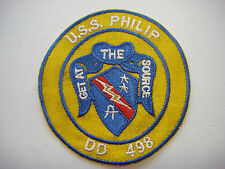 "Vietnam War Patch US Navy Destroyer USS PHILIP DD-498 ""GET AT THE SOURCE"""