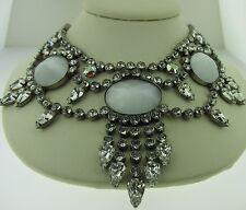 Sorrelli White Bridal Necklace NCQ19ASWBR antique silver tone