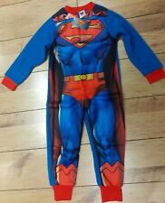 Boys Pyjama Suit - Superman - All-In-One - Age 5-6 Years - Brand New