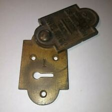ANTIQUE J TANN SAFE KEY HOLE PLATE LOCK ESCHUTCHEON NEWGATE STREET LONDON LARGE