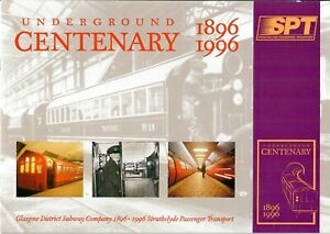 Glasgow Underground Centenary 1896 1996 Commemorative Brochure