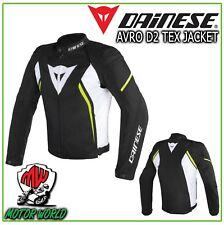 Avro D2 Tex Jacket - Dainese Nero/bianco/giallo-fluo 48