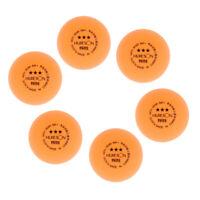 6Pc Durable 3-Star 40+mm Ping Pong Balls Advanced Training Table Tennis Ball