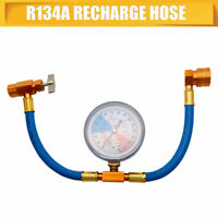 Car Air Conditioning Refrigerant Recharge Measuring Kit Hose Gas Gauge R134A Car