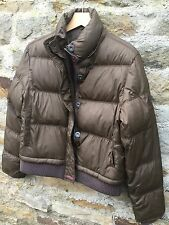 FIRETRAP - LARGE -NUTMEG BROWN - FEATHER AND DOWN SOFT PADDED JACKET