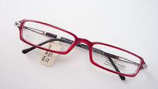 Lese Brille schmal eckig rot schwarz Gestell Modell Silhouette SPX leicht size L