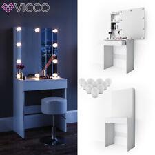 Vicco Table de maquillage Melle commode de coiffeuse miroir LED blanc