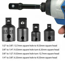 "4Pcs 3/8"" to 1/4"" 1/2 inch Drive Ratchet Socket Adapter Reducer Air Impact Tool"
