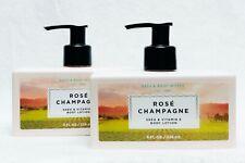 2 Bath & Body Works ROSE CHAMPAGNE MERCI Body Lotion Pump