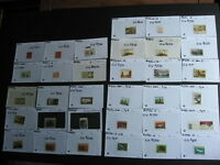 CANADA all different varieties group, 33 sales cards, unverified,mixed condition