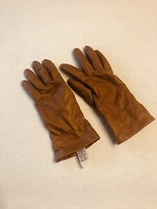 Ladies Fownes 100% Cashmere Lined Leather Gloves Camel size 7.5