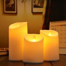 3pcs/Set Luminara Ivory Flameless Candle Moving Wick Simulation Candle Lamp Part