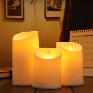 3pcs/Set Luminara Ivory Flameless Candle Moving Wick Simulation Candle Lamp Part