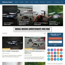DRONES STORE - Established Online Business Website For Sale Mobile Friendly