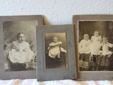 Vintage Baby Photos Lot Of 3