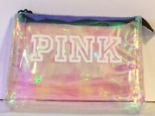 VICTORIAS SECRET PINK IRREDESCENT COSMETIC BEAUTY TRAVEL BAG CASE NWT Free Ship