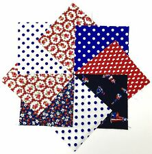 100% Cotton Fabric Charm Pack 48 5 inch Squares in Nautical Red, White and Blue