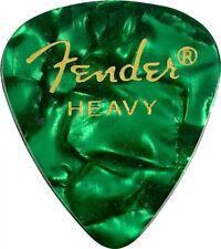 Genuine Fender 351 Premium Picks Green Moto Heavy 12-pack 098-0351-971
