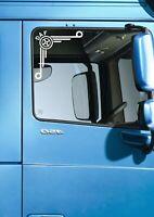 DAF CIRCLE LOGO WINDOW STICKER XF CF LF LEYLAND DAF TRUCKER HAULAGE DRIVER