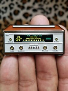 Limited Fisher 400 Pin Badge Vintage Receiver 500 800 New!