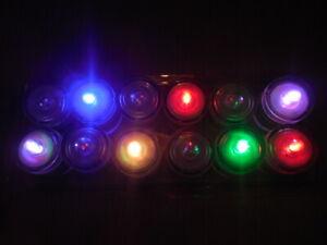 Bougies led submersibles, lot de 12, couleurs défilantes