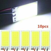 10*Super White 48 SMD COB LED T10 4W 12V Car Interior Panel Light Dome Lamp Bulb