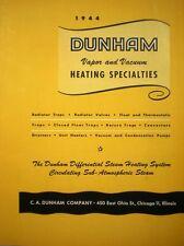 C. A. DUNHAM Company Victory Steam Heating Valve ASBESTOS Catalog 1944