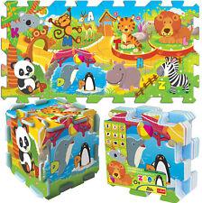 TREFL GRAND 8 pièce éducatif 5 en 1 mousse Puzzle enfants petits zoo amusant
