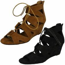 Ladies Spot On Wedge Sandals