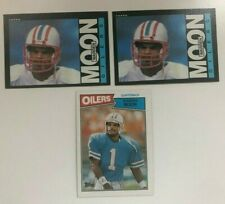 (2) 1985 Topps FOOTBALL #251 WARREN MOON RC ROOKIE card HOUSTON OILERS LOT