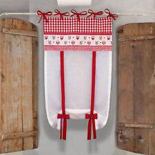 Tenda finestra Country Chic Gufetti 60 x 150 Colore Bianco Rosso