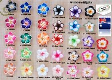 10 x Frangipani Beads 20mm - YOU choose colours - flower finding charm pendant