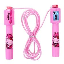 Hellokitty Timer Jump Rope 2.4M Sporting Fitness Tool Pink Yoga Indoor Outdoor