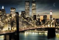 Manhattan Lights Photo Art Print Poster 36x24 inch