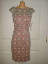 Maggy London Floral Lace Cap Sleeve Cocktail Sheath Dress Sz 14 Retail $174
