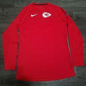 NIKE NFL Pro Kansas City Chiefs Breathe Training Shirt Men LARGE Patrick Mahomes