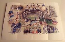 """1986 NY Mets World Series Full Color Lithograph""""A Year to Remember""""  with Seal"""