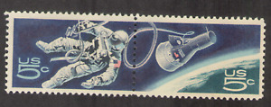 US. Space-Walking Astronaut & Gemini 4 Capsule, Accomplishments in Space. MNH